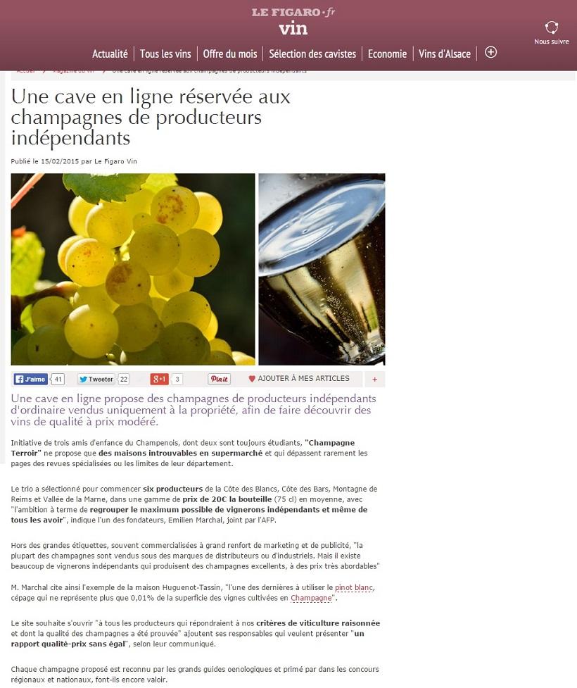 Le Figaro Vin : Cave en ligne